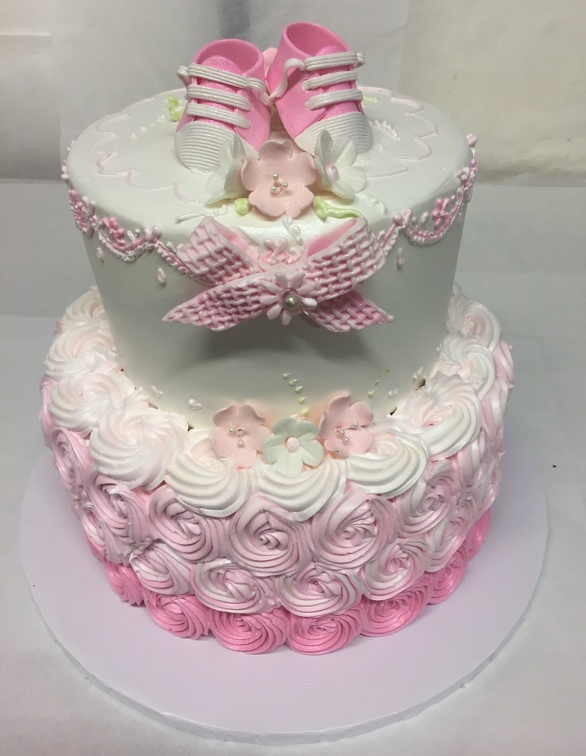 Pleasing Tag Pink Rosette Dorsis Bakery Cake Gallery Funny Birthday Cards Online Hendilapandamsfinfo