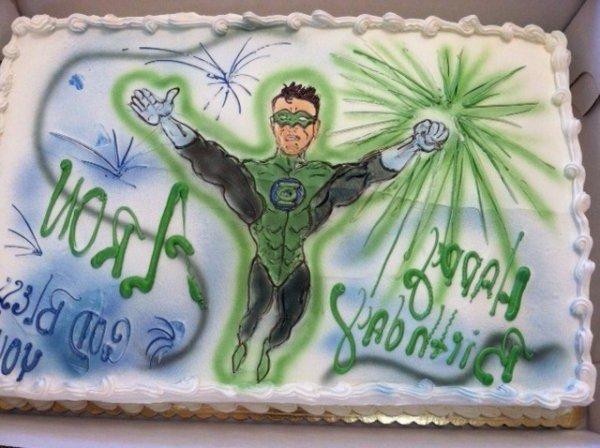 Surprising Tag Green Lantern Dorsis Bakery Cake Gallery Funny Birthday Cards Online Amentibdeldamsfinfo